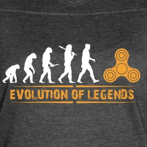 Fidget Spinner - Evolution of Legends - Women's Vintage Sport T-Shirt