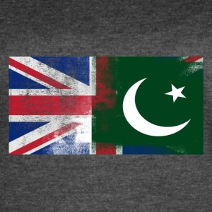 British Pakistani Half Pakistan Half UK Flag - Women's Vintage Sport T-Shirt