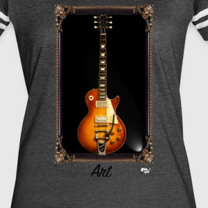 Guitars Are Art - LP - Women's Vintage Sport T-Shirt