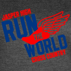 Jasper High Run The World Cross Country - Women's Vintage Sport T-Shirt