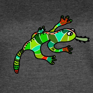 Nice gecko lizard ethno green red exotic tropical - Women's Vintage Sport T-Shirt