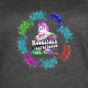 Rainbow Hippie Cow - Women's Vintage Sport T-Shirt