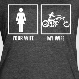 My Wife Loves Motorcycling - Women's Vintage Sport T-Shirt