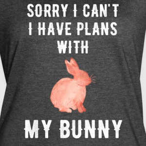 Sorry I can't I have plans with my bunny - Women's Vintage Sport T-Shirt