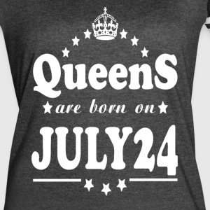 Queens are born on July 24 - Women's Vintage Sport T-Shirt