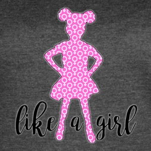LIKE A GIRL - Women's Vintage Sport T-Shirt