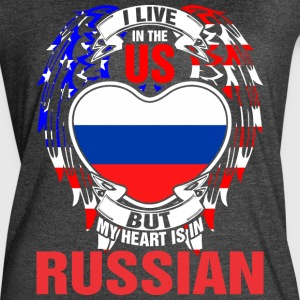 I Live In The Us But My Heart Is In Russian - Women's Vintage Sport T-Shirt
