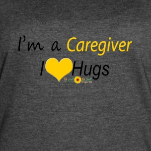 Yellow Caregiver Hugs - Women's Vintage Sport T-Shirt