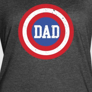 Super Dad T-Shirt Funny Superhero Father's Day Tee - Women's Vintage Sport T-Shirt