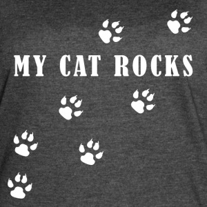 My Cat Rocks White - Women's Vintage Sport T-Shirt