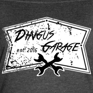 Dingus Garage, white - Women's Vintage Sport T-Shirt