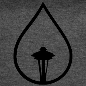 Seattle Space Needle Rain Drop - Women's Vintage Sport T-Shirt
