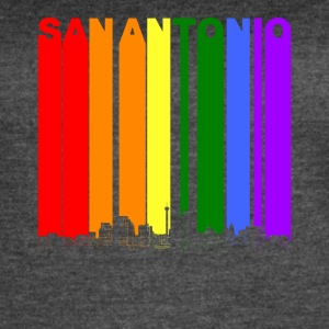 San Antonio Texas Skyline Rainbow LGBT Gay Pride - Women's Vintage Sport T-Shirt