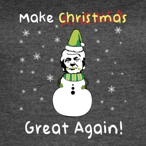Make Xmas Great Again Donald Trump Christmas Shirt - Women's Vintage Sport T-Shirt