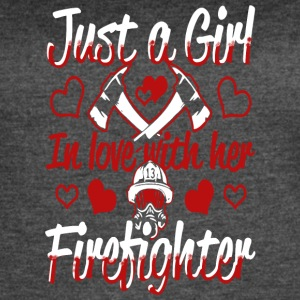 Just A Girl In Love With Her Firefighter T Shirt - Women's Vintage Sport T-Shirt