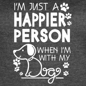 Happier Person When I'm With My Dog T Shirt - Women's Vintage Sport T-Shirt