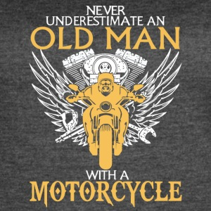 An Old Man With A Motorcycle T Shirt - Women's Vintage Sport T-Shirt