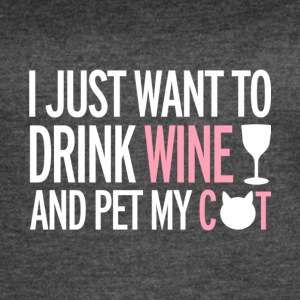 Drink Wine And Pet My Cat T Shirt - Women's Vintage Sport T-Shirt