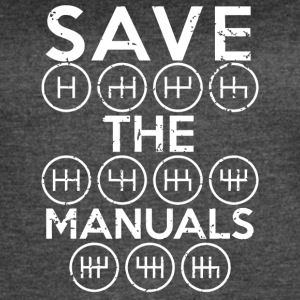 Save the Manuals shirt - Women's Vintage Sport T-Shirt