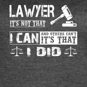 LAWYER TEE SHIRT - Women's Vintage Sport T-Shirt