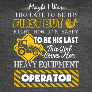 This Girl Love Her Heavy Equipment Operator Shirt - Women's Vintage Sport T-Shirt