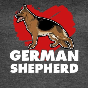 I Love My Dog T Shirt for German Shepherd Lovers - Women's Vintage Sport T-Shirt