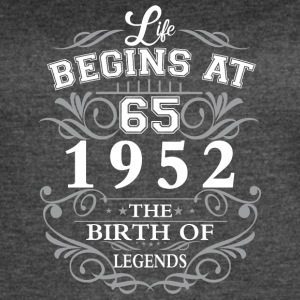 Life begins 65 1952 The birth of legends - Women's Vintage Sport T-Shirt