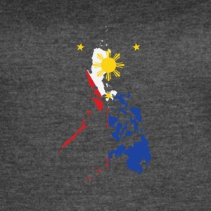 Filipino Map Philippines Flag - Women's Vintage Sport T-Shirt