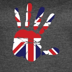 British Flag Handprint Patriotic Pride - Women's Vintage Sport T-Shirt