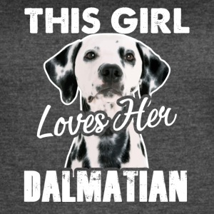 This Girl Loves Her Dalmatian Shirt - Women's Vintage Sport T-Shirt