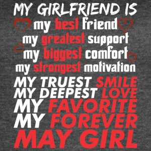 My Girlfriend Is May Girl - Women's Vintage Sport T-Shirt