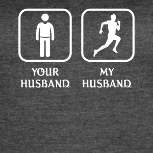 Husband Running Love- cool shirt,geek hoodie,tank - Women's Vintage Sport T-Shirt