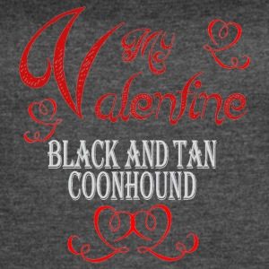 A romantic Valentine with my Black and Tan Coonhou - Women's Vintage Sport T-Shirt