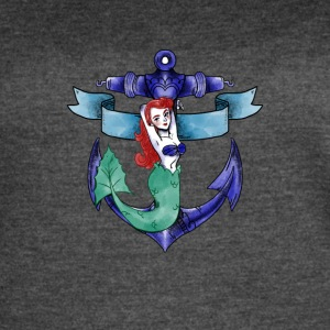 mermaid fee water sea ocean anchor armature - Women's Vintage Sport T-Shirt