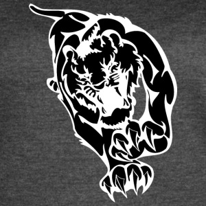 tiger_looking_to_hunt_black - Women's Vintage Sport T-Shirt