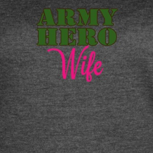 ARMY HERO WIFE - Women's Vintage Sport T-Shirt