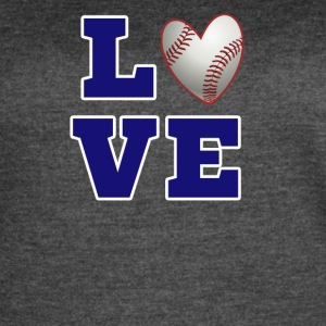 baseball love heart shirt - Women's Vintage Sport T-Shirt