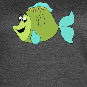Fish Cartoon - Women's Vintage Sport T-Shirt