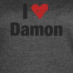 I Heart Damon - Women's Vintage Sport T-Shirt