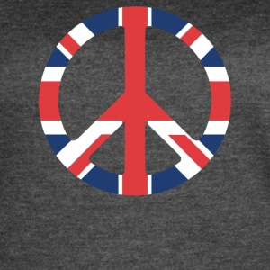 United Kingdom Peace Sign - Women's Vintage Sport T-Shirt