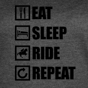 EAT SLEEP RIDE REPEAT - Women's Vintage Sport T-Shirt