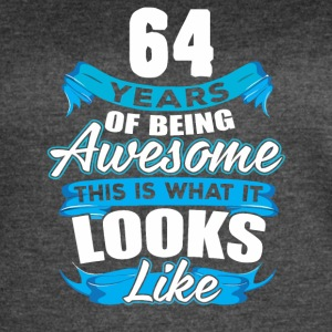64 Years Of Being Awesome Looks Like - Women's Vintage Sport T-Shirt