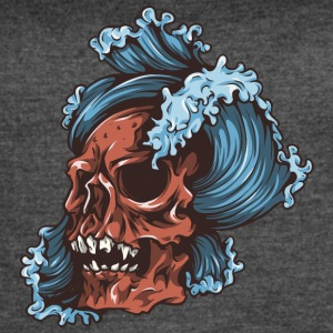 waves_and_red_skull - Women's Vintage Sport T-Shirt