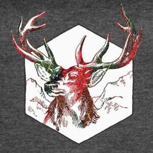 Plaid deer - Women's Vintage Sport T-Shirt
