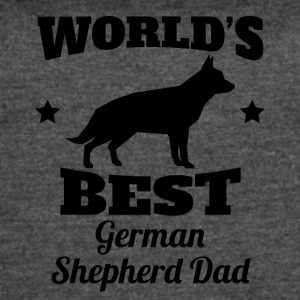 World's Best German Shepherd Dad - Women's Vintage Sport T-Shirt