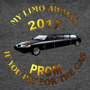Class of 2017 Prom My Limo Awaits - Women's Vintage Sport T-Shirt