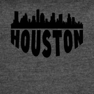 Houston TX Cityscape Skyline - Women's Vintage Sport T-Shirt