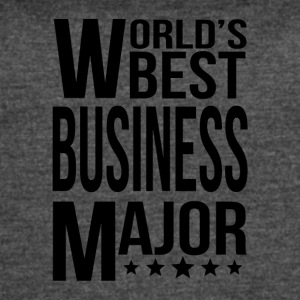 World's Best Business Major - Women's Vintage Sport T-Shirt