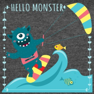 Monster with kite - Women's Vintage Sport T-Shirt