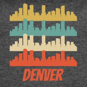 Retro Denver CO Skyline Pop Art - Women's Vintage Sport T-Shirt